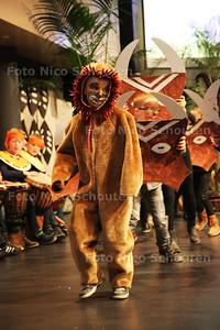 De Joannesschool sluit een tweejaarlijksproject af met een opvoering van de Lion King. De opbrengst van het project gaat naar de Girls Empowerment Foundation - NAALDWIJK 18 MAART 2016 - FOTO NICO SCHOUTEN