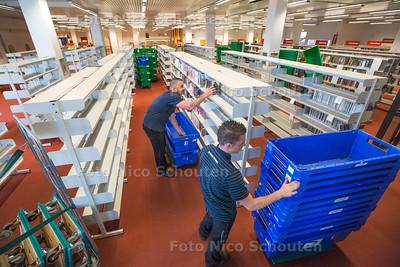 Verhuizing openbare bibliotheek Zoetermeer - ZOETERMEER 17 MEI 2016 - FOTO NICO SCHOUTEN