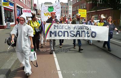 Mars voor Moeder Aarde - Mars tegen Monsanto - DEN HAAG 21 MEI 2016 - FOTO NICO SCHOUTEN