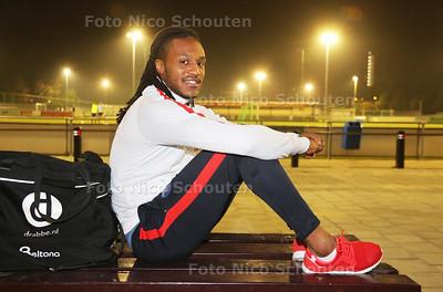 voetballer Jean Pierre Nocento van Forum Sport - VOORBURG 25 OKTOBER 2016 - FOTO NICO SCHOUTEN