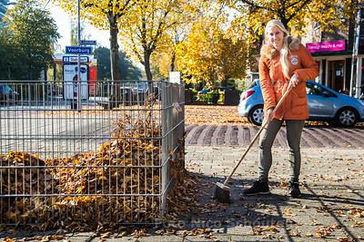 De meest gebruikte bladerkorf van Voorburg - Looierslaan - VOORBURG 31 OKTOBER 2016 - FOTO NICO SCHOUTEN