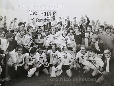 Foto uit het Binnenhof van het kampioenselftal van 1983 Die Haghe;  - DEN HAAG 18 APRIL 2017 - REPRO NICO SCHOUTEN
