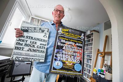 Ruud van Wijngaarden, een van de oprichters van Sound of the Sixties - met de eerste (1985) en laatste poster tot nu toe, 150 feesten - ZOETERMEER 29 AUGUSTUS  2017 - FOTO NICO SCHOUTEN