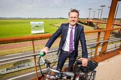 D66 wethouder Robin Paalvast over de nieuwe Driemanspolder - ZOETERMEER 23 AUGUSTUS  2017 - FOTO NICO SCHOUTEN