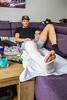Koen Göbel (Schipluiden), die zaterdag zijn scheenbeen tijdens een voetbalwedstrijd - SCHIPLUIDEN 28 FEBRUARI 2017 - FOTO NICO SCHOUTEN