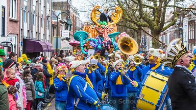 Carnavals optocht - Nieuwe Langendijk - DELFT 25 FEBRUARI 2017 - FOTO NICO SCHOUTEN
