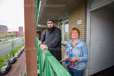 Problemen Staedion; Hannie van der Sman (r) en Hafied Loukili - DEN HAAG 14 MEI  2017 - FOTO NICO SCHOUTEN