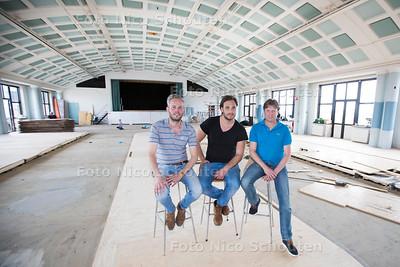 Nieuw Restaurant in Binck 36 - vlnr Jan Willem Keus, Jeremy Molag en Sander Blom - DEN HAAG 16 MEI  2017 - FOTO NICO SCHOUTEN