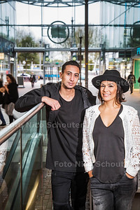 Amy Scholten en Omar Abdelkarim kandidaten van het tvprogramma Hunted - DEN HAAG 24 OKTOBER 2017 - FOTO NICO SCHOUTEN