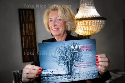 Ria Oosterop is voorzitter van het nederlands Thriller Festival dat zondag van start gaat in Zoetermeer - DEN HAAG 19 OKTOBER 2017 - FOTO NICO SCHOUTEN