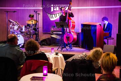 Jazzconcours, Jazz Award 2017; Krijn Schelvis, 13 jaar (piano), Nick Verschoor (contrabas), Tim Emmerloot (drums) -  ZOETERMEER 16 SEPTEMBER 2017 2017 - FOTO NICO SCHOUTEN