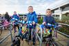 Basisschool De Spelevaert; Kinderen gaan met versierde fiets naar school; Dillen (7)(l) en Lucas (6)  - ZOETERMEER 21 SEPTEMEBR 2017 - FOTO NICO SCHOUTEN