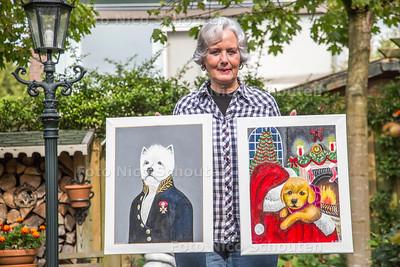 Schilderes Martha Kluth exposeert in verzorgingstehuis Buytenhage - ZOETERMEER 21 SEPTEMEBER 2017 - FOTO NICO SCHOUTEN