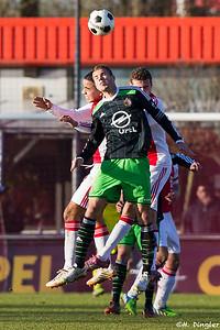 17-01-2015: Voetbal: Feyenoord A1-Ajax A1: Rotterdam Competitie 2014/2015