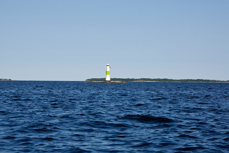 Lighthouse Stenkobbsgrund east of Ramsmora, Möja