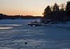 Stockholm archipelago in sunset time 14.57