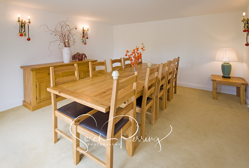 An interior photograph of an upmarket dining room