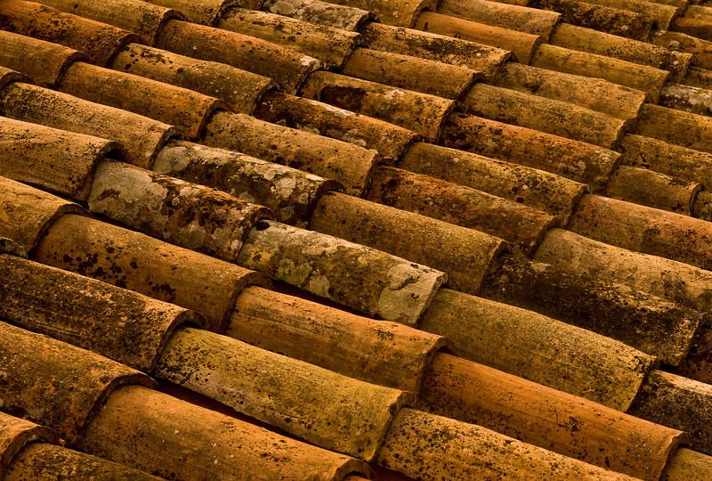 Clay Tile Shingles of Orvieto, Italy