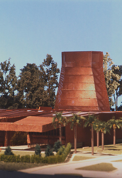 Presentation model of the DeYoung Museum in Golden Gate Park