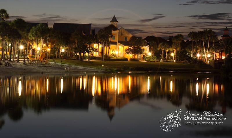 Carribean Beach Resort at Night