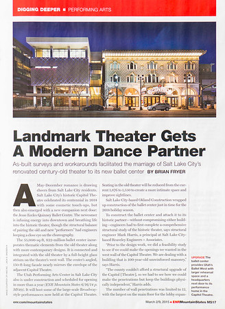 100 Year Old Landmark Theater Gets a Dance Partner