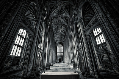 Canterbury Cathedral Black & White Version. By David Stoddart