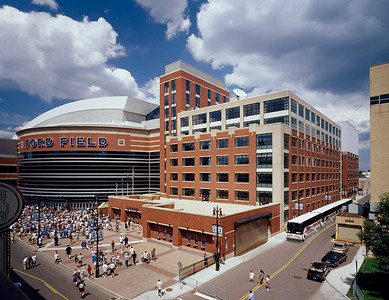 Ford Field, Detroit, Michigan Architect: KMD Architects