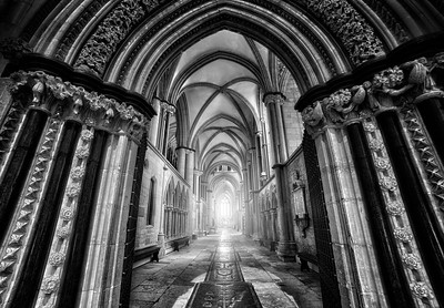 Lincoln Cathedral Archway. By David Stoddart