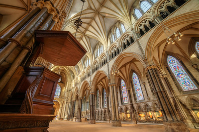 Lincoln Cathedral Sounding Board. by David Stoddart