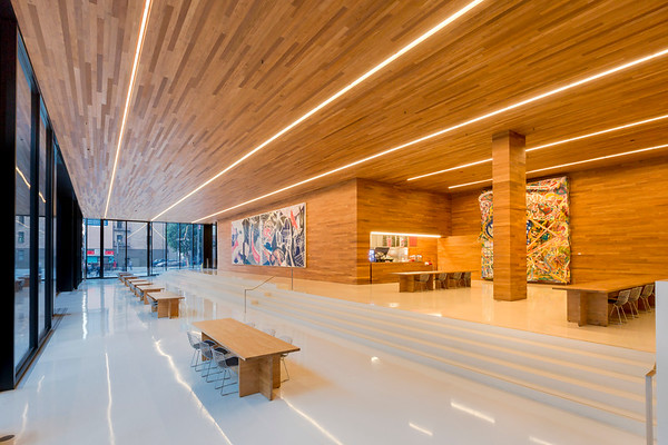 LinkedIn Offices, first floor lobby and public open space (POPOS)