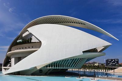Palau de les Arts (Palace of the Arts - El Palacio de las Artes), Valencia