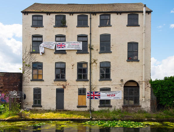 Derelict Building - Leeds Canal Yorkshire UK 2016
