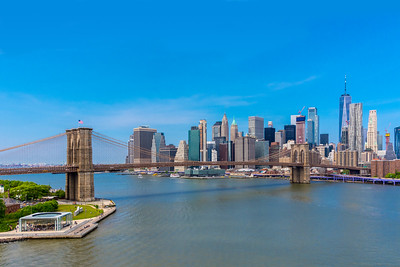 The Brooklyn Bridge and Manhattan skyline