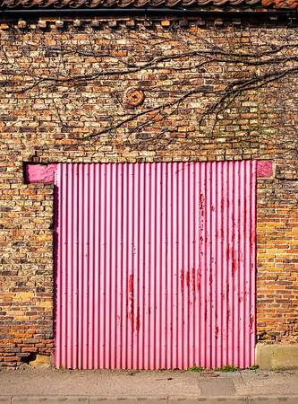 Pink Disused Doorway - Tollerton North Yorkshire UK 2018