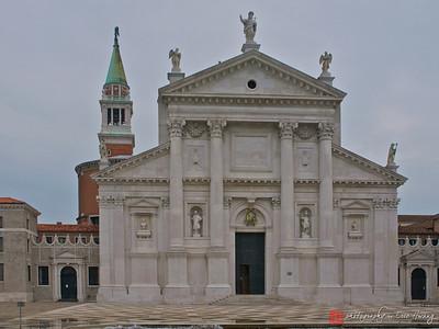 The facade of the Church of San Giorgio Maggiore, Venice, Italy