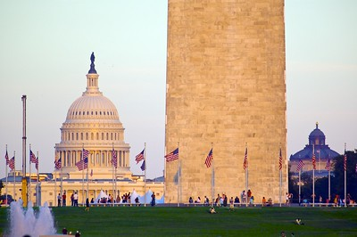 Washington Monument and the U.S. Capitol building