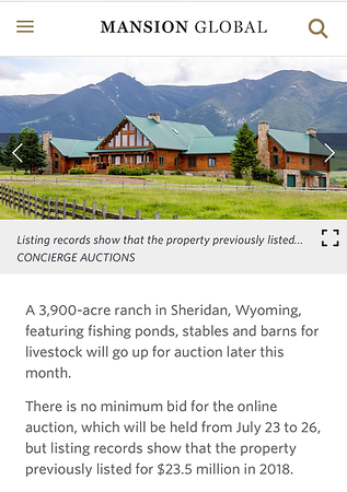 Holy Cow Ranch Photographed by Nathan Satran featured on Mansion Global