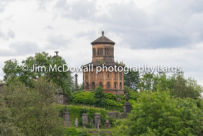 Impressive Ancient Glasgow architecture looking over to the Nocropolis sitting high on the cemetery hill.