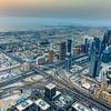 Taken from at the top, Burj Khalifa.