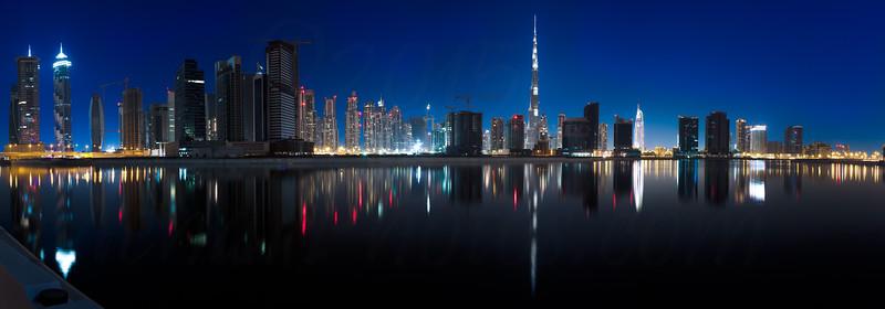 Burj Khalifa as seen from Business Bay.