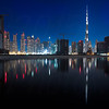 Burj Khalifa as seen from Business Bay.