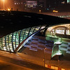 Business Bay Metro Station at Night.