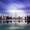 Business bay and Burj Khalifa in Rain.