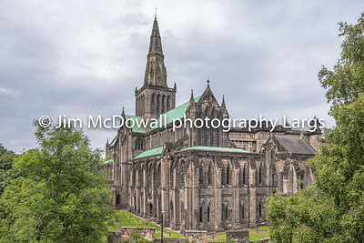 Looking Down onto Glasgow Cathedral from the Necropolis.