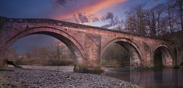 The Old Stair Bridge over the River Ayr with many Links to Roberts Burns of Scotland.