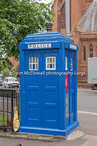 An old City of Glasgow Police Box one of the few left in the city centre of Glasgow this one in Castle Street near the cathedral.