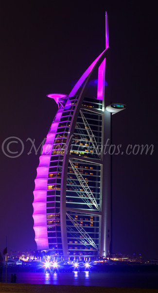 Colourful Burj Al Arab