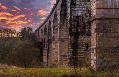 Old Railway Viaduct at Sunset