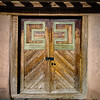 Locked church door Northern New Mexico