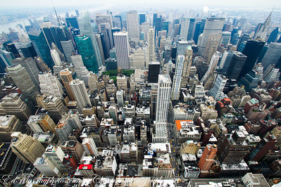 From High Up: A view of midtown Manhattan from the top of the Empire State Building